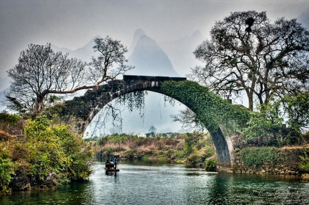 Fuli Bridge, Yulong River, Yangshuo, Guilin, Guangxi Province, China
