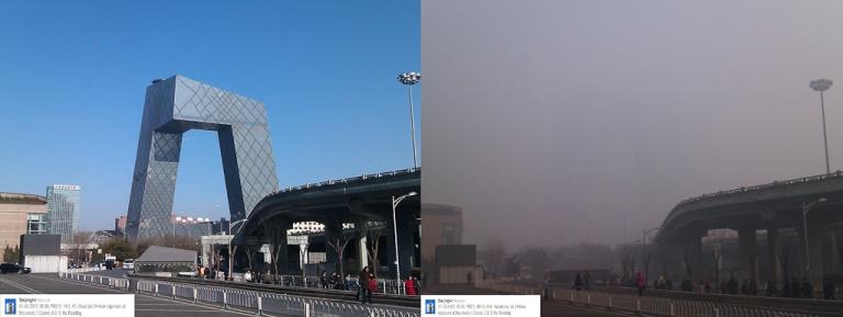 Pollution Comparison - 3 & 10 January 2012